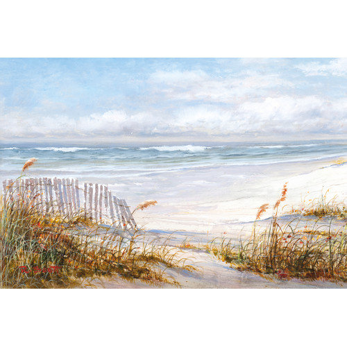 "Portfolio Canvas Decor ""Beach Fence"" by Robin Scott Wrapped and Stretched Canvas... by Zenixx"