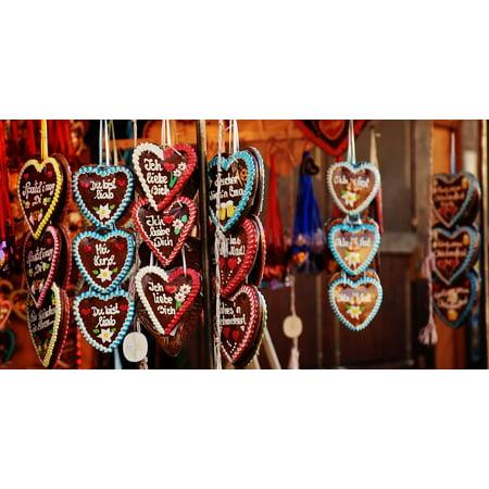 LAMINATED POSTER Love Folk Festival Oktoberfest Heart Gingerbread Poster Print 24 x 36 - Oktoberfest Photo