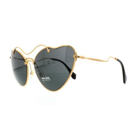 Miu Miu MU55RS Sonnenbrille Gold 7OE1A1 65mm 16PCN4Fur