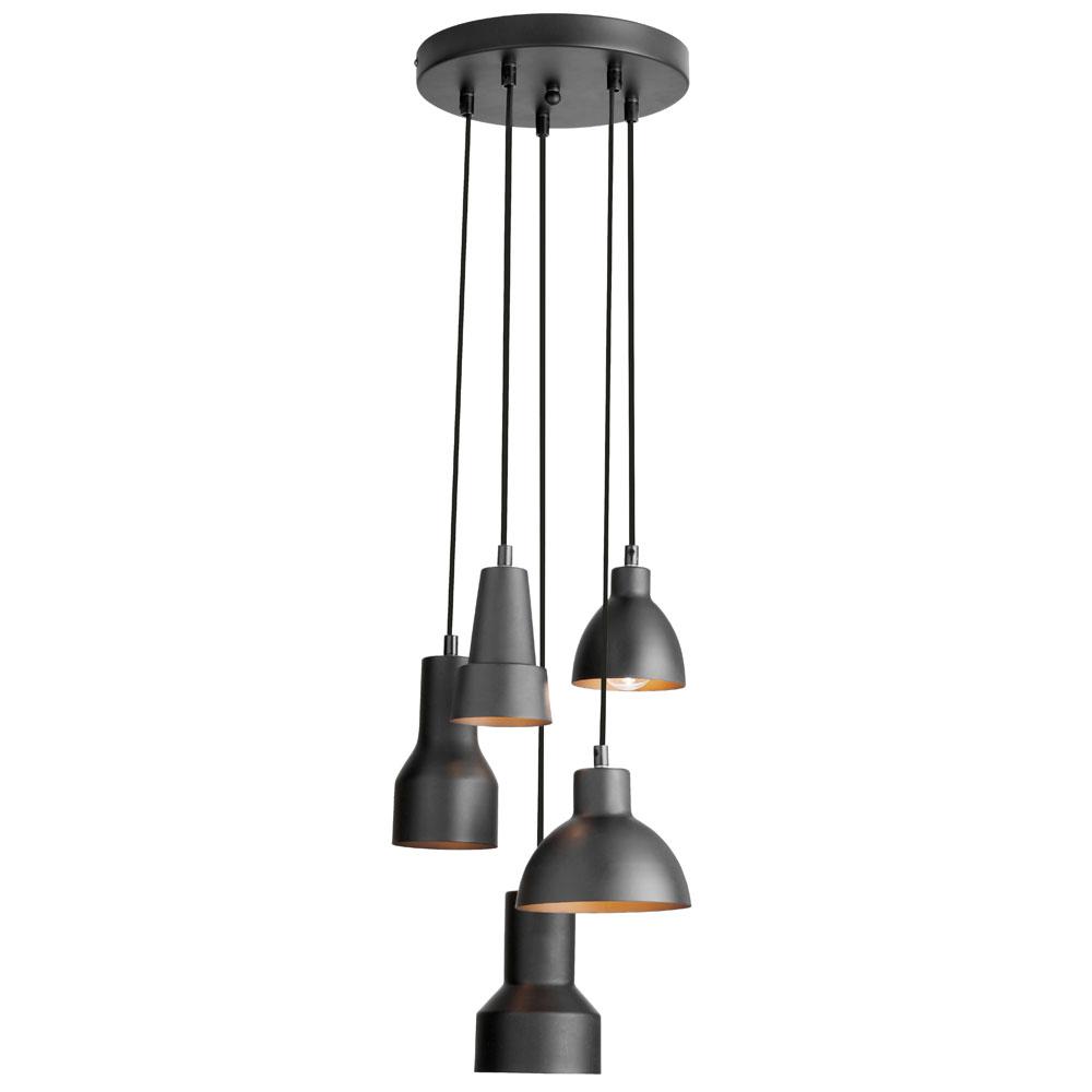 industrial chic lighting. Dainolite IC-105P-BLK Industrial Chic Pendants Matte Black/Gold Steel  5-light - Walmart.com Industrial Chic Lighting