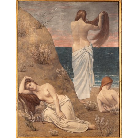 Young Girls At The Seaside Poster Print