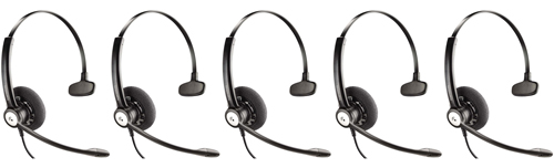 Plantronics Blackwire C510 Mono Corded Headset w  Noise-Canceling Microphone (5 Pack) by PLANTRONICS
