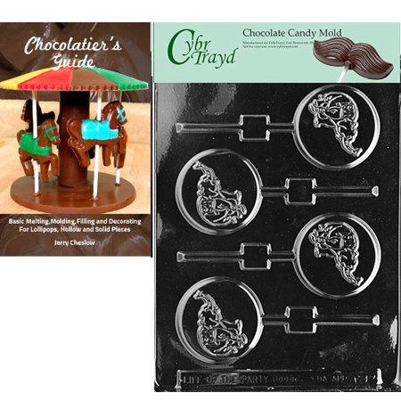 Cybrtrayd GOP Elephant Lolly Chocolate Candy Mold with Our Chocolatier's Guide Instructions - Gop Elephant