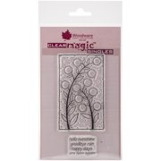 """Woodware Clear Stamps 3.5""""X5.5""""-Bubble Bloom Carol"""
