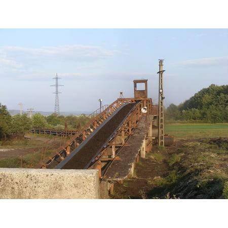 Canvas Print Fuel Coal Energy Black Industries Conveyor Belt Stretched Canvas 10 x 14