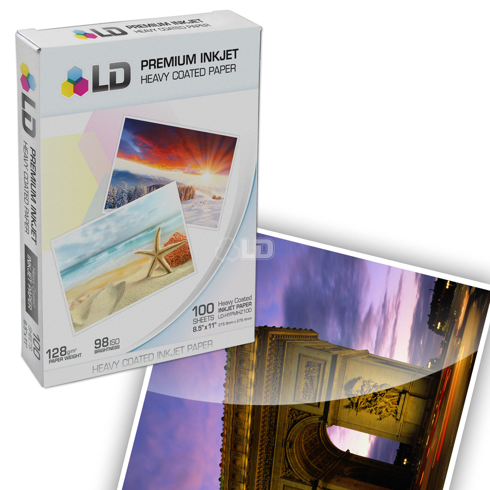 LD  Heavy Coated Matte Inkjet Paper (8.5X11) 100 pack - High Resolution
