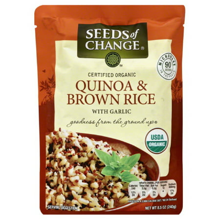 Seeds Of Change Quinoa & Brown Rice with Garlic, 8.5 Oz (Pack of