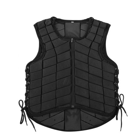 Lv. life Black Unisex Horse Riding Equestrian Vest Protective Guard Body Protector Gear, Horse Riding Protector