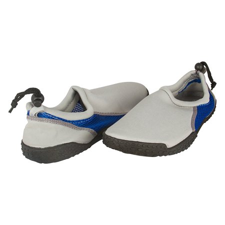 Zack & Evan Mens Neoprene and Mesh Water Beach Shoe with Strap Size 9 Black/Turquoise (Jazz Shoes Size 9)