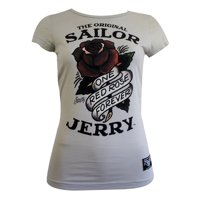 0a688e6417a3 Product Image Sailor Jerry Tattoo Juniors One Red Rose Forever T-Shirt