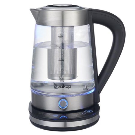 ZOKOP HD-2005D 110V 1500W 2.5L Blue Glass Electric Kettle with Filter