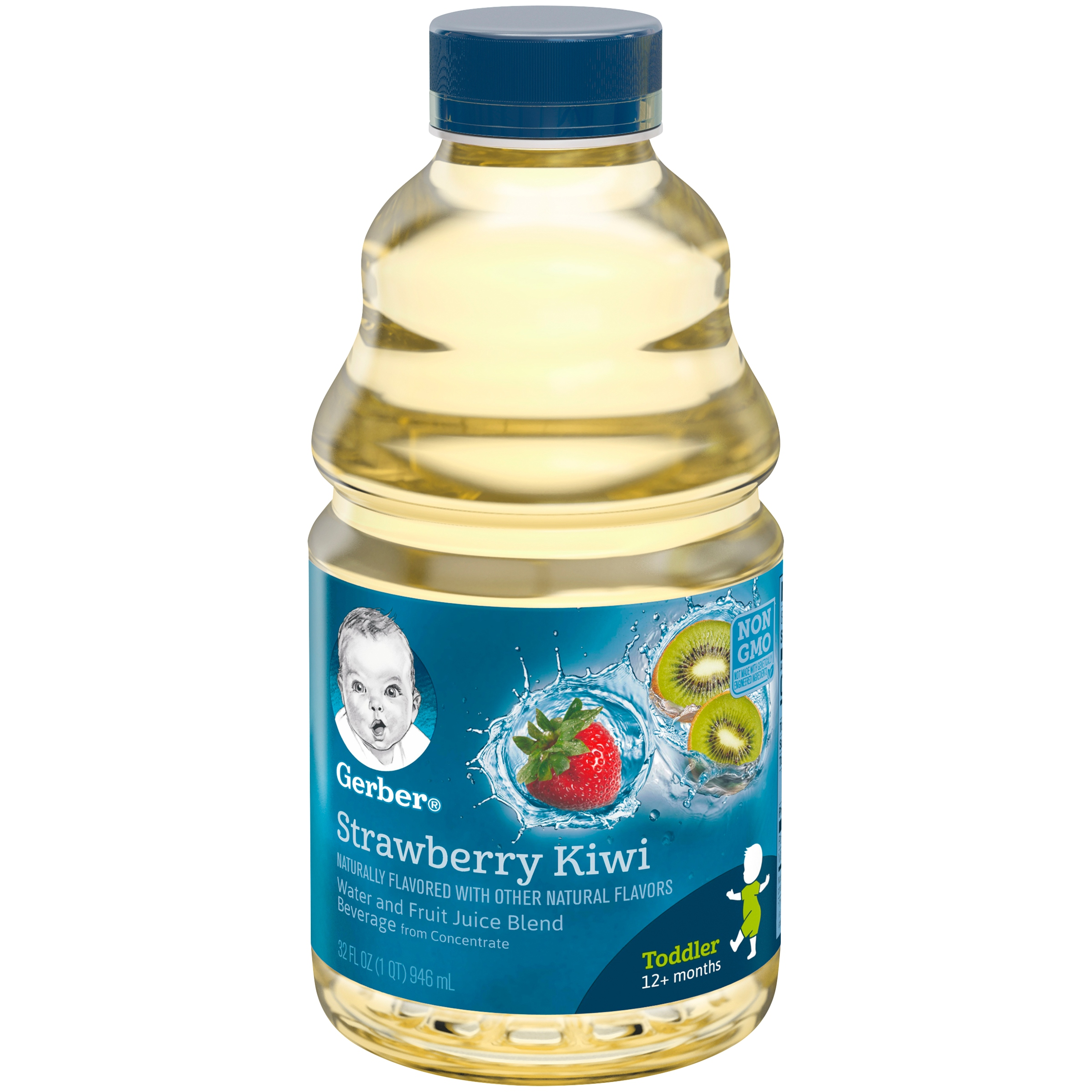 Gerber Fruit Splashers Strawberry Kiwi Beverage 32 fl. oz. Bottle
