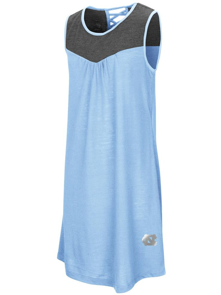 North Carolina Tarheels UNC Dress Girl's Tank Top Dress by Colosseum