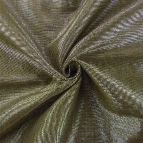 Cork Brown/Silver Tiara Linen Lame Drapery Fabric, Fabric By the Yard