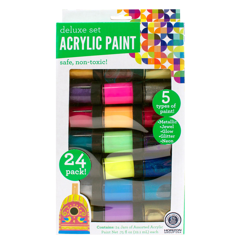 Permanent Acrylic Rainbow Paint Set, 24ct. - Walmart.com