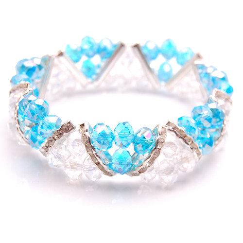 Bleek2Sheek Crystal/Rhinestone Beaded Bracelet