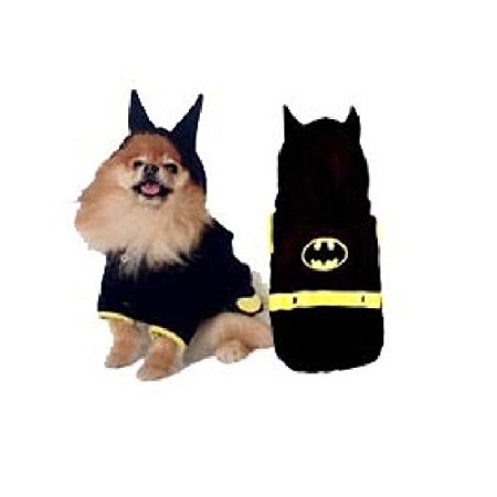 Dog Costume - BATDOG COSTUMES Bat Cape Crusader Dogs Black Yellow(Size 2) for $<!---->