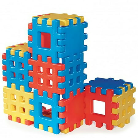 Little Tikes Big Waffle 18 Piece Toddler Kid Construction Building Block Set