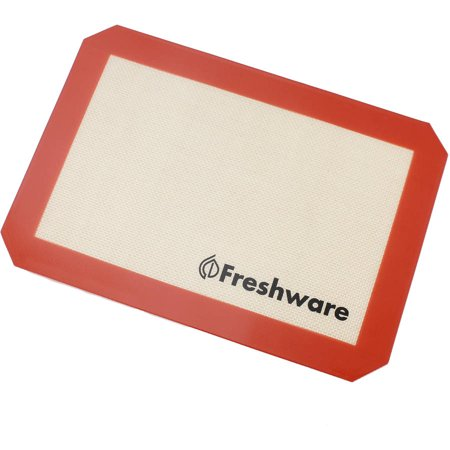 Freshware Non-Stick Silicone Baking Mat, Quarter Size, BM-101