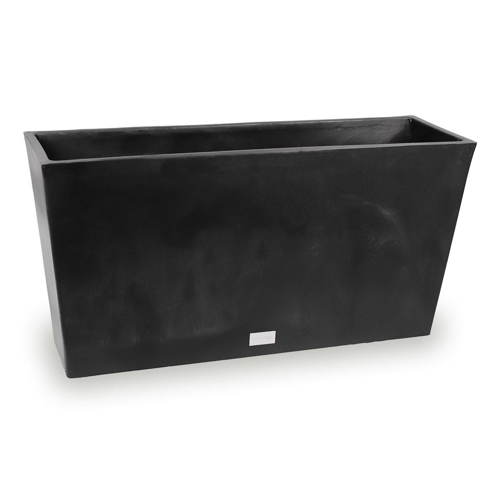 Veradek Midori Trough Planter Black 31 in. by Veradek Inc