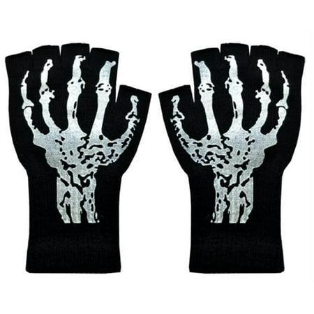 Gloves Short Fingerless W Skeleton