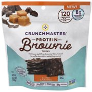 Crunchmaster Salted Caramel Protein Brownie Thins, 3.54 OZ (Pack of 12)
