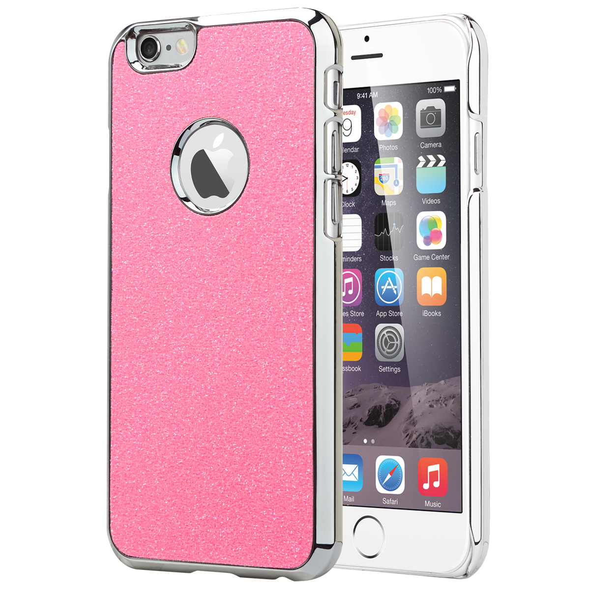ULAK [Bling Glitter] Crystal Plastic Case with Colored Chrome Coating Cover for Apple iPhone 6 & 6S 4.7 inch Generation