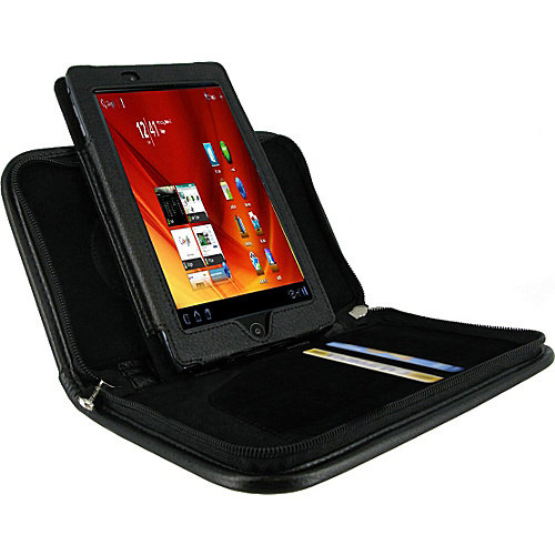 rooCASE Executive Portfolio Leather Case for Acer Iconia Tab A100 7-Inch