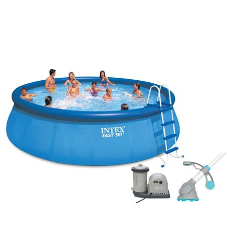 Intex 18 39 x 48 easy set above ground pool with pump for Best above ground pool pump