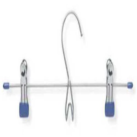 Skirt/Pant Hanger, Chrome/Blue, Metal, PK3 While you're shopping for clothing hangers, don't miss out on our great selection of shoe racks, clothing racks, closet organizers, and closet systems. Here are some important details for Honey-Can-Do Skirt/Pant Hanger. Material: metal, Finish: Chrome/Blue.