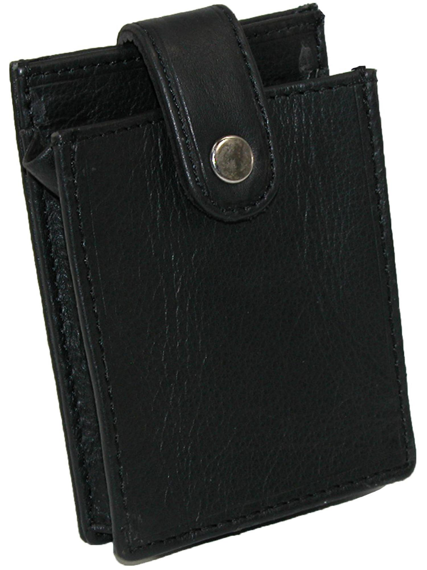 Paul /& Taylor Genuine Leather Credit Card Case Button Snap Closed