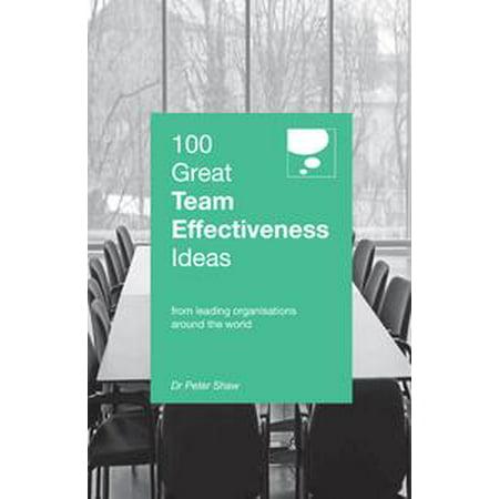 100 Great Team Effectiveness Ideas - - Team Recognition Ideas