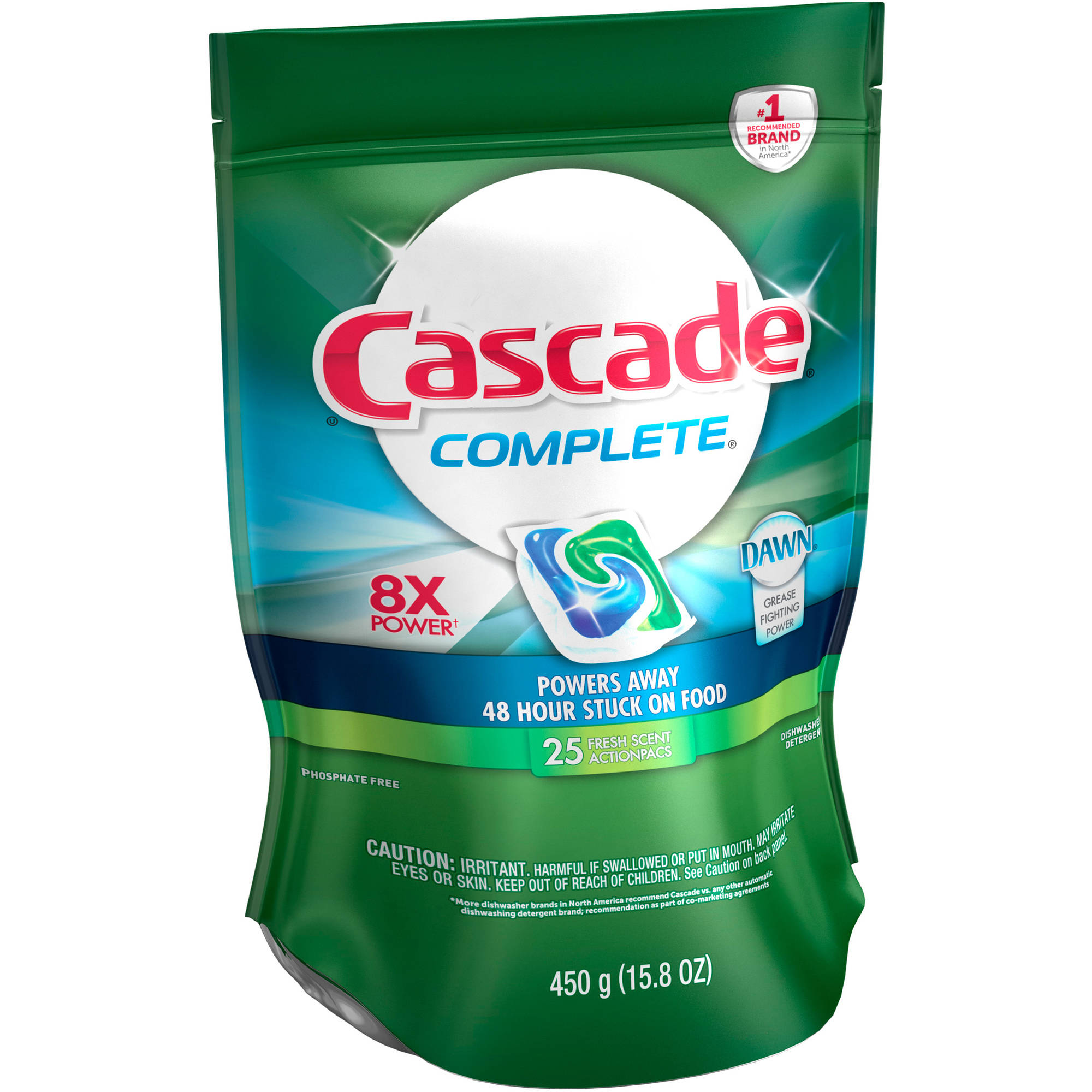 Cascade Complete ActionPacs Dishwasher Detergent Fresh Scent (choose your size)