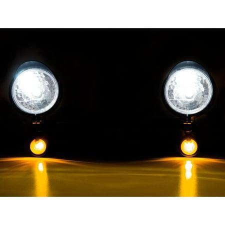 Krator Black Motorcycle Passing Light Bar & Turn Signals For Honda Shadow Sabre VT VF 700 750 1100 - image 2 de 7