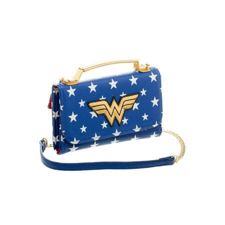 DC Comics Wonder Woman Inside Out Cross Body Wallet Clutch (Wonder Woman Wallet)