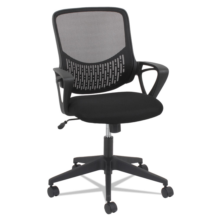 Oif MK4718 Modern Mesh Task Chair, Fixed Triangle Arms - Black