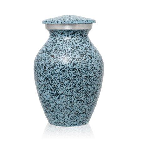 Keepsake Urn (Alloy Keepsake Urns - Extra Small 3 Pounds - Light Blue Classic)
