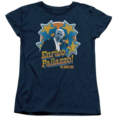 Naked Gun/Its Enrico Pallazzo   S/S Women's Tee   Navy     Par201 - Naked Steampunk Women