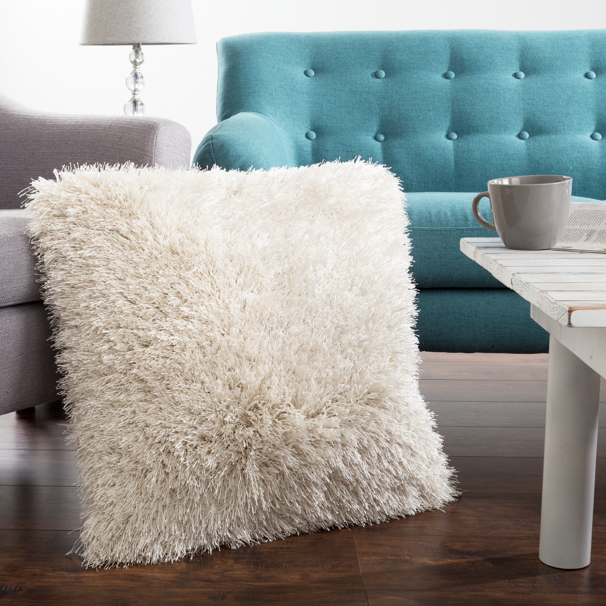 "Shag Floor Pillow, 24"" x 24"" Square by Somerset Home"
