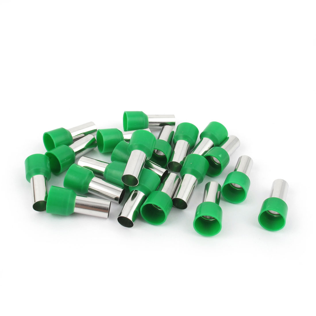 Unique Bargains 20 Pcs Wire Crimp Connector Terminal Insulated Ferrule Green E16-12 6AWG 16mm2