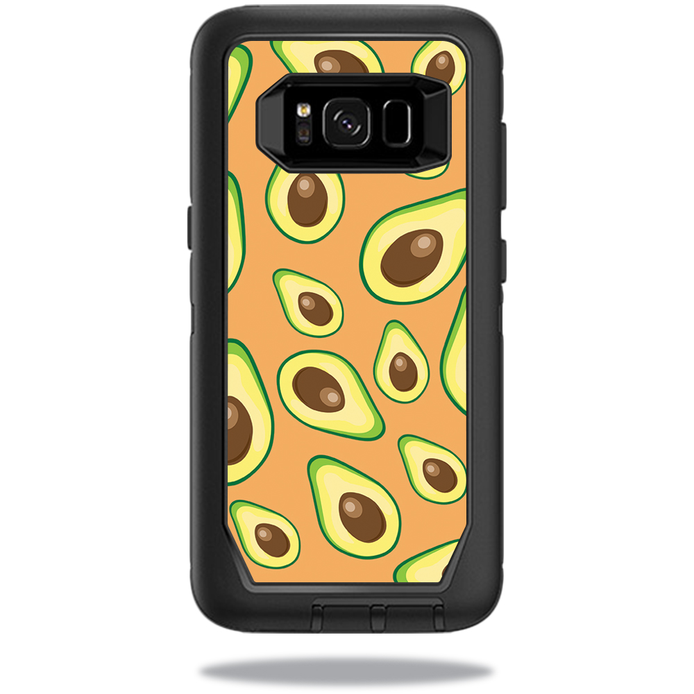 MightySkins Protective Vinyl Skin Decal for OtterBox DefenderSamsung Galaxy S8 Case sticker wrap cover sticker skins Orange Avocados