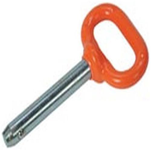 Double Hh Mfg 85333 Detent Pin, Orange Handle, 5/8 x 3-In.