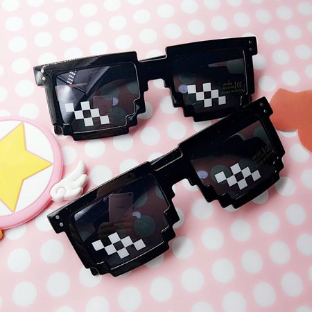 Thug Life Glasses 8 Bit Pixel Deal With IT Sunglasses Unisex Sunglasses (Thug Life Sunglasses)