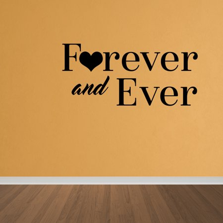 Wall Decal Quote Forever And Ever Marriage Married Wall Art Decal ...
