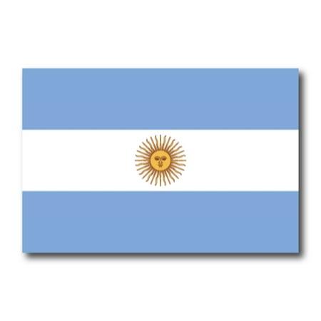 Argentina Argentinian Flag Car Magnet Decal - 4 x 6 Heavy Duty for Car Truck SUV (Argentina Cap)