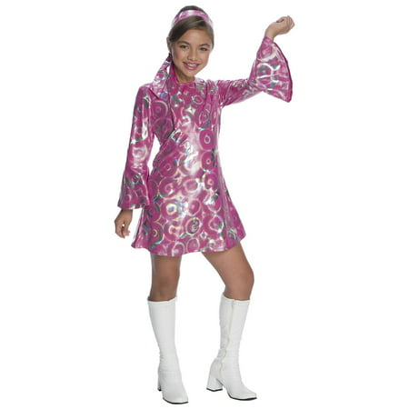 Girls Disco Princess Costume - Disco Girl Outfit