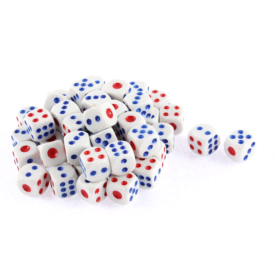 Unique Bargains 50 Pcs Square 1-6 Number Dots Casino Party Bar Holiday Game Gambling Dices