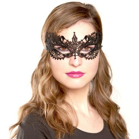 Masquerade Ball Masks, Lace Sexy Venetian Masquerade Mask For Women - Black ()