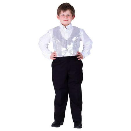 Dress Up America Boy's Sequin Vest