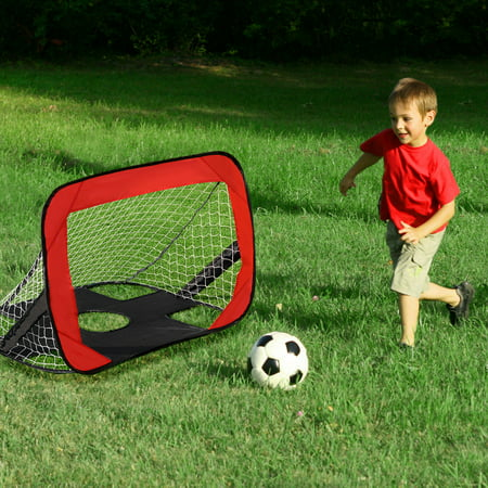 f312f49bf Portable 2 in 1 Pop Up Kids Soccer Goal Net Soccer Target Sports w Carry  Bag ...